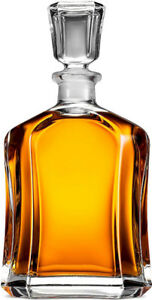 Novelty Capitol Glass Decanter with Airtight Geometric Stopper -