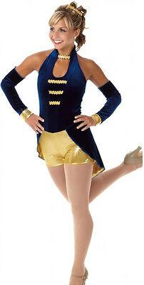 El Captain Dance Costume Biketard with Sleeves Ringmaster Circus Child X-Small (Ringmaster Costume Child)