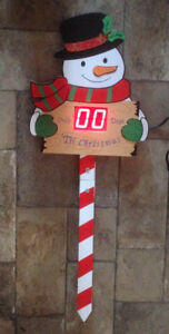 Snowman Plug in Light Up Countdown to Christmas