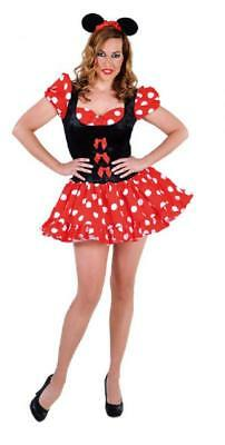 Micky Mickey Minny Minni Minnie Maus Mouse Disney Kleid Kostüm Punkte Damen