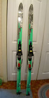 Skis, telemark with complete bindings, 180mm length $100.00