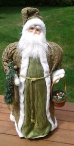 Grand personnage de Noël: St-Nicolas dans son habit d'antan