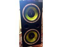 Fusion sub box, 600w amp & pair 6/9