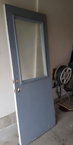 "32"" outside man door with window"