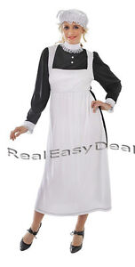 Adult-Lady-Victorian-Maid-Wench-Costume-Medieval-Florence-Nightingale-AC289
