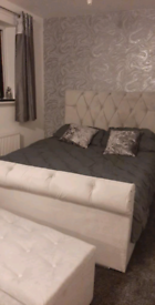 GORGEOUS Sleigh bed set with luxury mattress and FREE DELIVERY