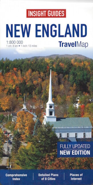 Insight Travel Map New England (USA) *IN STOCK IN MELBOURNE - NEW*
