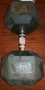 85 lbs RUBBER HEX DUMBBELL for $55 (SINGLE ONLY)