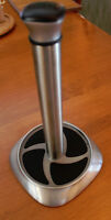Standing Paper Towel Holder, Brushed Nickel Finish, Like New