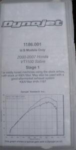 NEW!!! Dynojet Kit Stage 1 For Honda 2000-2007 Sabre VT1100