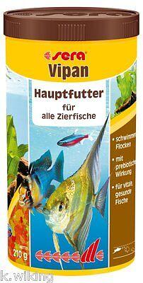 Sera Vipan Flockenfutter Hauptfutter 1000ml Fischfutter 1 Liter Flocken