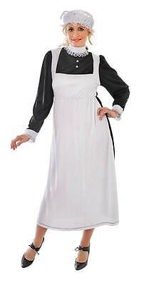 Victorian Maid Fancy Dress Adult Costume, Oliver - Victorian Maid Kostüme