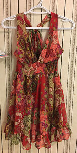Brand new with tag pretty red floral dress, size M