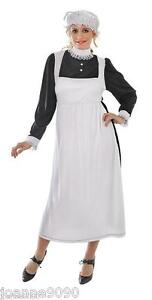 NEW-WOMENS-LADIES-VICTORIAN-MAID-FANCY-DRESS-COSTUME-OUTFIT-ONE-SIZE-10-12-14-16