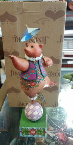 "Jim Shore "" Bear, Ball, Parasol"""