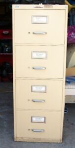Large Heavy 4 Drawer File Cabinet