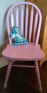 Pink Chalk Painted Chair