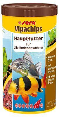 Sera VipaChips 1000ml / 1 Liter Hauptfutter Chips für Bodenfische und Welse