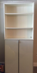 White Billy Bookcase with Doors