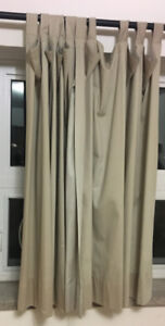 3 window drapes with rods, great condition