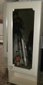 2 Wood Medicine Cabinets with Mirrors