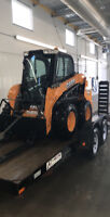 Skid steer and trailer for hire! Also have a mid size track hoe!
