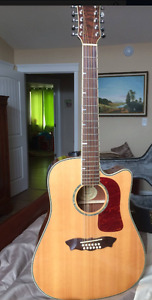 12 string Washburn with built in pick up