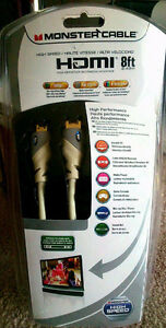 Brand New Monster Cable High Speed HDMI Cable 8ft