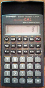 calculatrice Sharp Advanced D.A.L. scientifique, modèle  EL-510R