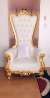 Throne chairs for rental