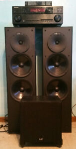 Nuance speakers with 7.1 Pioneer receiver & 8 inch subwoofer