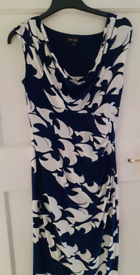 Phase Eight size 10 Navy/ Cream dress excellent condition