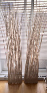 2 Decorative Bamboo Room-Dividers + 2 Art Prints/Posters + Misc.