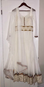 Indian Suit - Brand New White Anarkali