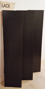 "Three IKEA LACK 43"" (100 cm) floating shelves in black-brown"