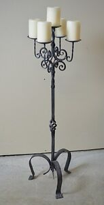 Unique Banff Artisan Forged Iron Floor-Sized Candle Holder/Stand