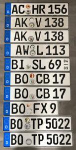 Plaques d'immatriculation allemandes ou européennes