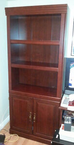 4 Sauder Heritage Hill Collection Book Cases & 1 TV Stand