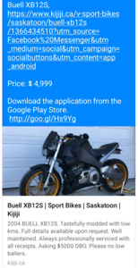 Looking for buell xb1200 for sale in sask
