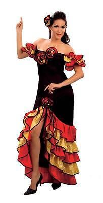 RUMBA-FRAU, SPANISCH SALSA KOSTÜM (Spanisch Rumba Kostüm)