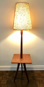 Teak lamp and side table (combined)