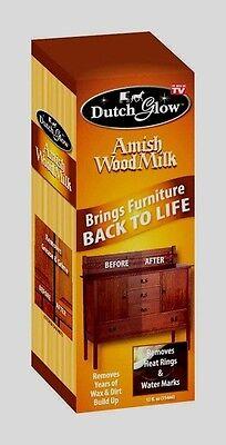 Clean Painted Wood Furniture - NEW 12oz Dutch Glow AMISH WOOD MILK Brings Back Restores Cleans Furniture Polish