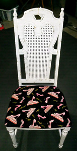 Shabby chic chair, make up chair, dressing chair