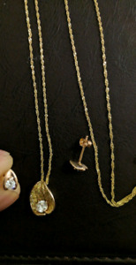 Earrings, Pendant, and Necklace Jewellery Set
