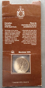1976 Canadian Olympic $100 Gold Coin Kingston Kingston Area image 1