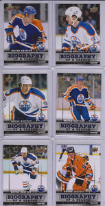 WAYNE GRETZKY UD Biography of a Season Lot 6 Hockey cards OILERS