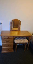 Dressing table, stool & mirror