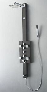 Fresca-Lecco-Stainless-Steel-Brushed-Gray-Thermostatic-Shower-Massage-Panel