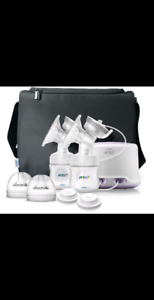 Double electric avent breast pump + extras