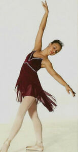 Lyrical Ballet Dance Costume Camisole with Petal Skirt Adult XS